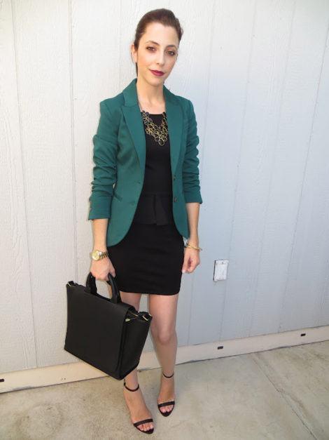 Blazer com vestido 470x627 - BLAZER FEMININO, com saia, vestido ou calça está em alta