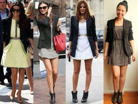 blazer com vestido curto 470x353 - BLAZER FEMININO, com saia, vestido ou calça está em alta