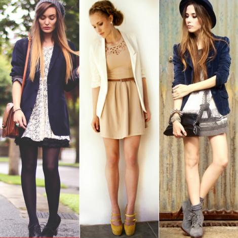 blazer com vestido curto 470x470 - BLAZER FEMININO, com saia, vestido ou calça está em alta