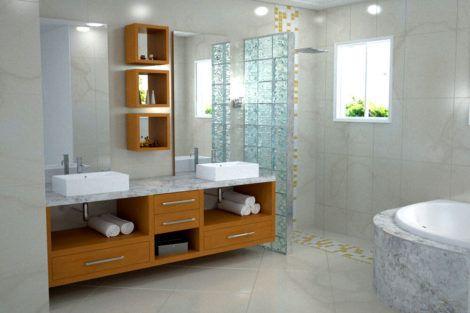 fotos de banheiros planejados 3 470x313 - FOTOS DE BANHEIROS Planejados e Decorados, perfeitos