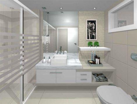 fotos de banheiros planejados 7 470x359 - FOTOS DE BANHEIROS Planejados e Decorados, perfeitos