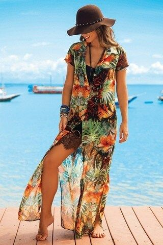 imagem 15 3 - SAÍDA de praia estampada, modelos para curtir o verão