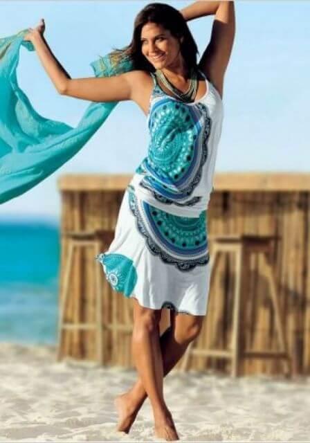 imagem 19 3 - SAÍDA de praia estampada, modelos para curtir o verão