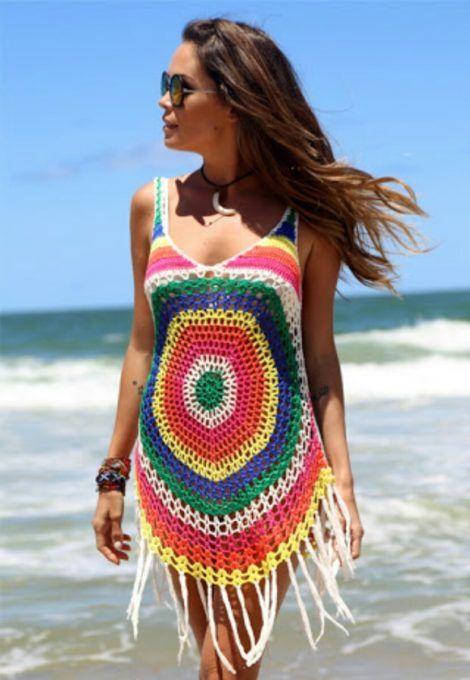 imagem 26 470x680 - SAÍDA de praia estampada, modelos para curtir o verão