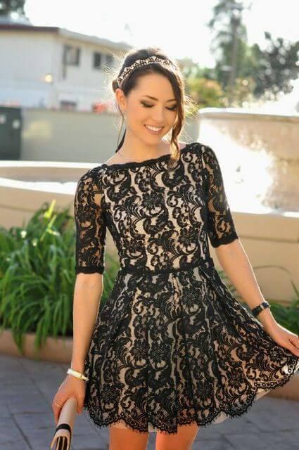 vestido de renda curto 2 - Vestido de RENDA CURTO , Veja como usar