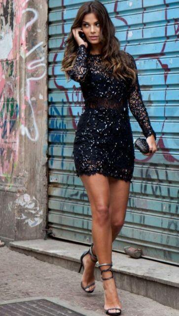 vestido de renda curto 4 - Vestido de RENDA CURTO , Veja como usar