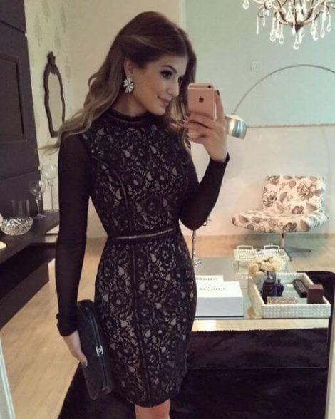 vestido de renda curto 6 470x588 - Vestido de RENDA CURTO , Veja como usar