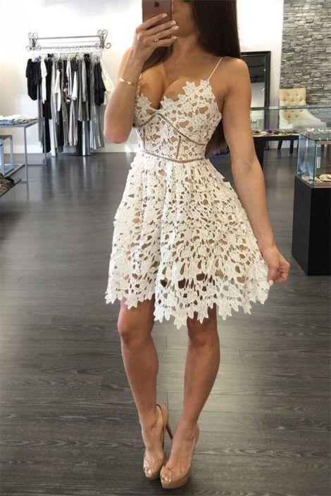 vestido de renda curto 8 470x705 - Vestido de RENDA CURTO , Veja como usar