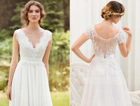 fotos vestido de noiva simples 470x357 - VESTIDO DE NOIVA SIMPLES : Modelitos curtos e longos especiais