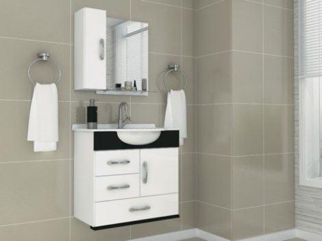 gabinete de banheiro pequeno 3 470x351 - GABINETE DE BANHEIRO pequeno em 30 projetos