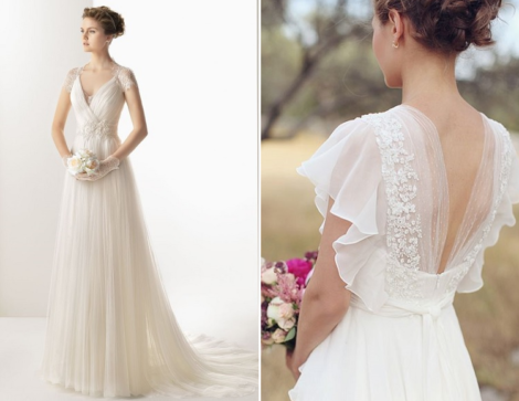 vestido de noiva simples tule 470x363 - VESTIDO DE NOIVA SIMPLES : Modelitos curtos e longos especiais
