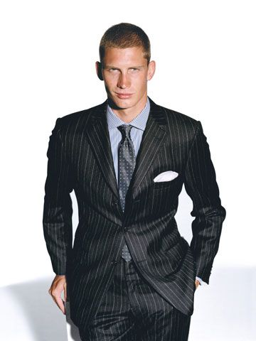 terno risca de giz 1 - TERNO risca de giz Modelos da moda masculina