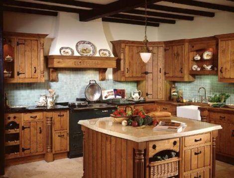 cozinha com moveis rusticos 2 470x358 - Móveis RÚSTICOS para Casa, veja cada ambiente