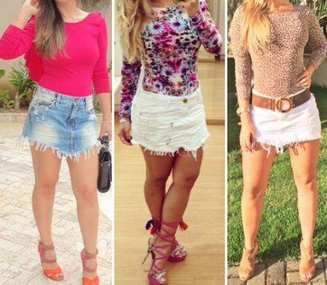 saia jeans curta 1 470x410 - SAIA jeans curta e longa da moda, como usar