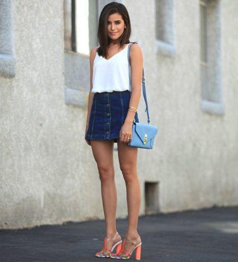 saia jeans curta 11 470x517 - SAIA jeans curta e longa da moda, como usar