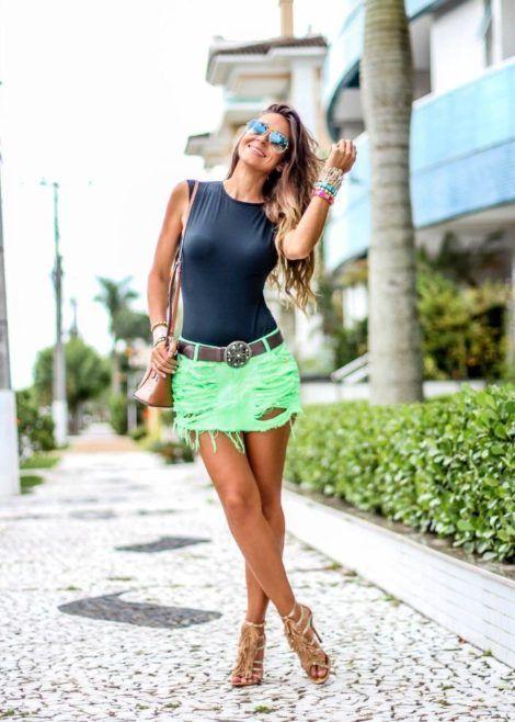 saia jeans curta 12 470x658 - SAIA jeans curta e longa da moda, como usar