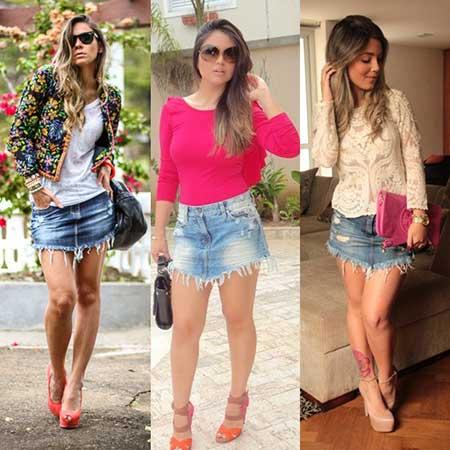 saia jeans curta 2 - SAIA jeans curta e longa da moda, como usar