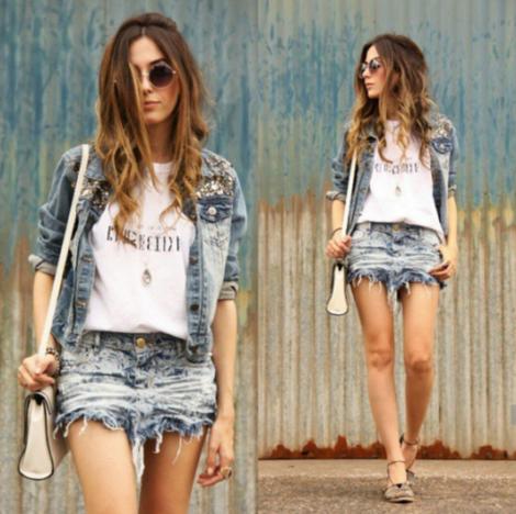 saia jeans curta 3 470x468 - SAIA jeans curta e longa da moda, como usar