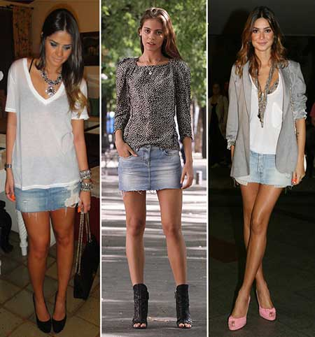 saia jeans curta 4 - SAIA jeans curta e longa da moda, como usar