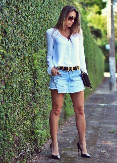 saia jeans curta 5 470x658 - SAIA jeans curta e longa da moda, como usar