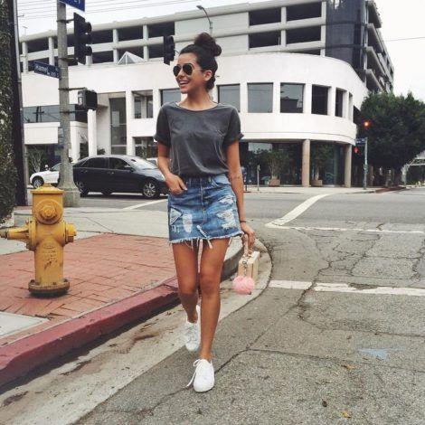 saia jeans curta 9 470x470 - SAIA jeans curta e longa da moda, como usar