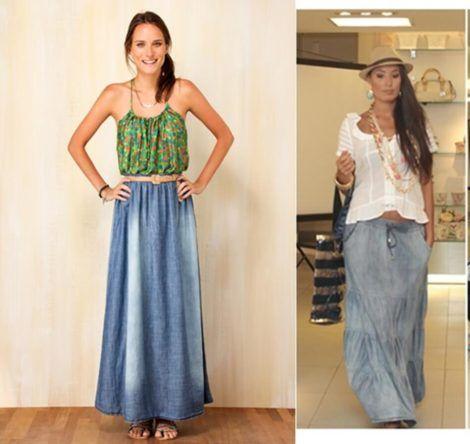 saia jeans longa 14 470x444 - SAIA jeans curta e longa da moda, como usar