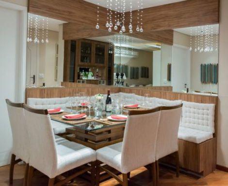mesa sala jantar 470x385 - SALA DE JANTAR PEQUENA com decoração charmosa
