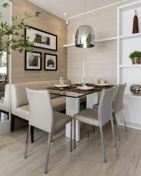 sala de jantar pequena fotos 470x587 - SALA DE JANTAR PEQUENA com decoração charmosa