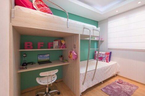 quarto com cama beliche 1 470x313 - Quarto com cama BELICHE veja como decorar