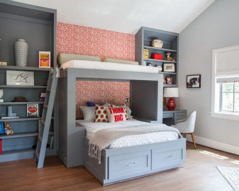 quarto com cama beliche 2 470x376 - Quarto com cama BELICHE veja como decorar