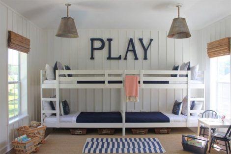 quarto com cama beliche 3 470x313 - Quarto com cama BELICHE veja como decorar
