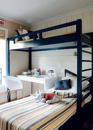 quarto com cama beliche 8 - Quarto com cama BELICHE veja como decorar