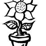 Desenho de flor par colorir 07 150x150 - Desenho de  flor para colorir, diversão e aprendizado para crianças.