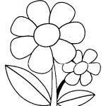 Desenho de flor para colorir 01 150x150 - Desenho de  flor para colorir, diversão e aprendizado para crianças.