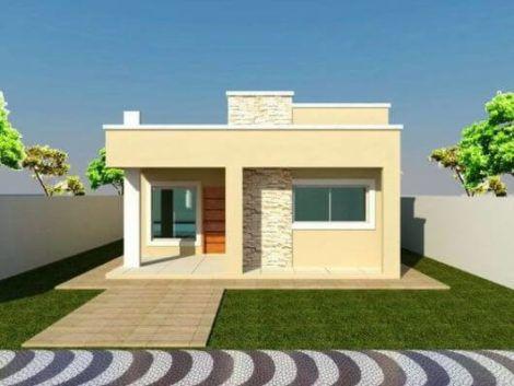casas populares fachada 4 470x353 - Fachadas de CASAS POPULARES - fotos de modelos
