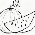 Desenho de fruta melancia para pintar 150x150 - Desenho de fruta para pintar - várias fotos