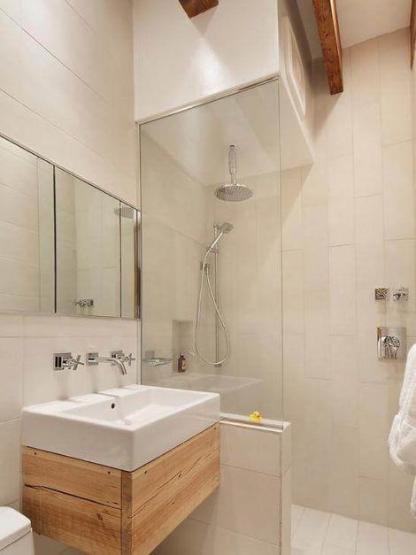 banheiro pequeno 1 470x627 - Dicas para decoração de BANHEIRO PEQUENO