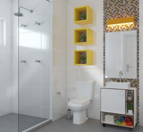 banheiro pequeno 3 470x434 - Dicas para decoração de BANHEIRO PEQUENO
