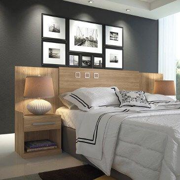 imagem 13 - Quartos decorados com CABECEIRA de cama box