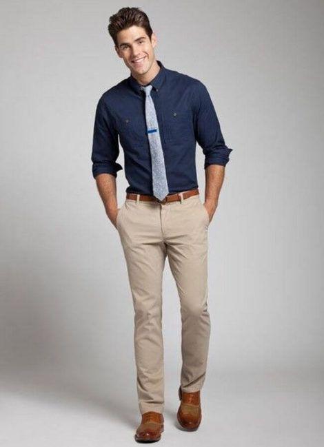 camisa social masculina com calca 4 470x649 - CAMISA SOCIAL MASCULINA com calça, shorts (visuais para trabalhar e passear)