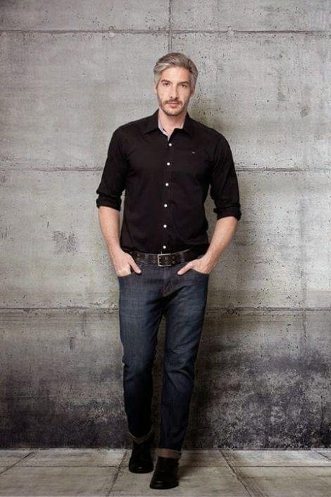 camisa social masculina com calca 5 470x705 - CAMISA SOCIAL MASCULINA com calça, shorts (visuais para trabalhar e passear)