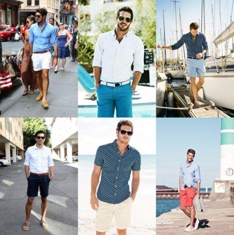 camisa social masculina com shorts 1 470x472 - CAMISA SOCIAL MASCULINA com calça, shorts (visuais para trabalhar e passear)