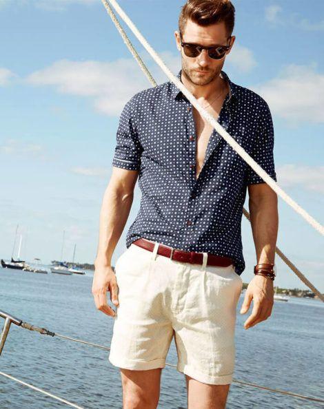 camisa social masculina com shorts 2 470x594 - CAMISA SOCIAL MASCULINA com calça, shorts (visuais para trabalhar e passear)