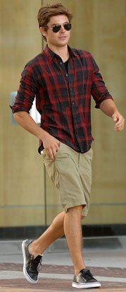 camisa social masculina com shorts 3 - CAMISA SOCIAL MASCULINA com calça, shorts (visuais para trabalhar e passear)