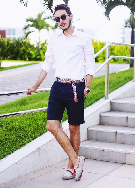 imagem 11 1 470x653 - CAMISA SOCIAL MASCULINA com calça, shorts (visuais para trabalhar e passear)