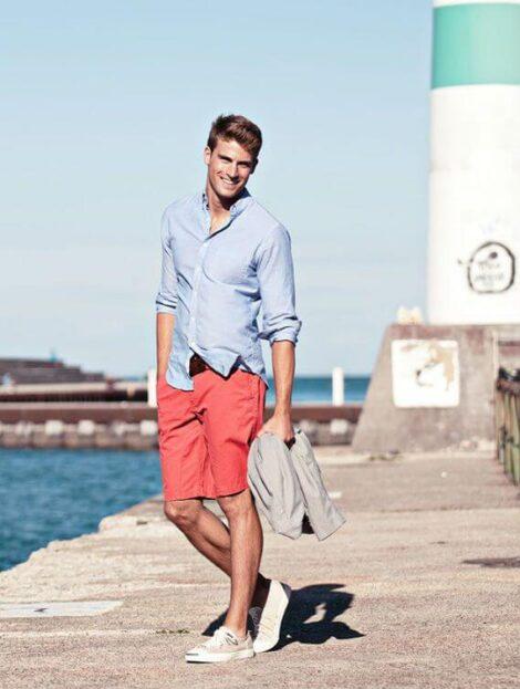 imagem 13 1 470x623 - CAMISA SOCIAL MASCULINA com calça, shorts (visuais para trabalhar e passear)