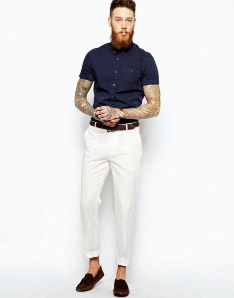 imagem 22 1 470x600 - CAMISA SOCIAL MASCULINA com calça, shorts (visuais para trabalhar e passear)