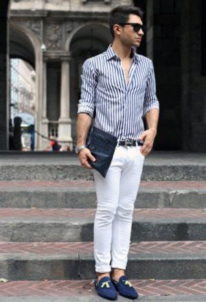 imagem 24 - CAMISA SOCIAL MASCULINA com calça, shorts (visuais para trabalhar e passear)