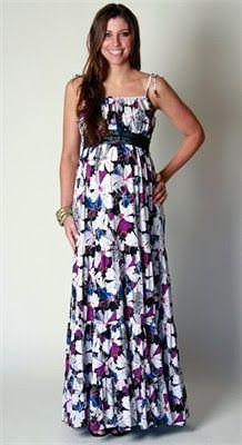 imagem 6 - Vestido de GESTANTE LONGO modelitos e dicas de uso