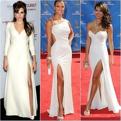 vestido com fenda branco para festas - VESTIDO COM FENDA que está em alta pra festa e dia a dia